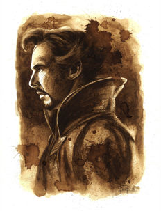 Doctor Strange - Original Coffee Drawing By Juapi