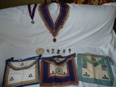 Collection of Masonic items