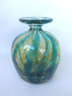 "Mdina Maltese - ""Blue Crystal Pattern"" - vase"