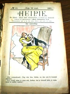 Satire; Huipie - illustrated magazine - 36 issues - 1897 / 1899