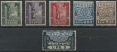 Italy, Kingdom, 1923 -- March on Rome -- Sassone 141/146