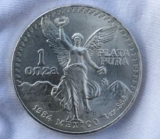 Mexico - 1 OZ Silver Libertad from the year 1984 - Very Rare!