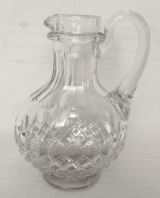 Large richly cut pitcher in Baccarat crystal, France, 1900 period