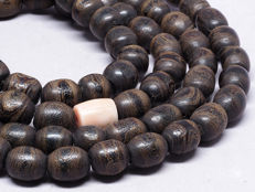 Antique black coral prayer beads rosary (tesbih)