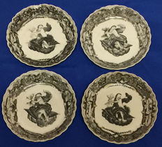 18th Century Encre de Chine plates, Zeus Mythology, Quanlong