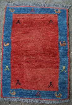 Vintage nomadic Persian Gabbeh carpet - Iran - End of the 20th century