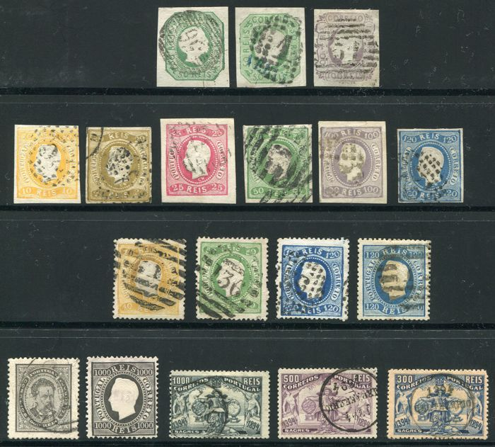 Portugal 1855/1894 - Selection classics - Yvert  7, 16, 17, 19/22, 24, 25, 27, 30, 33, 45, 62, 65, 106/08