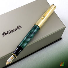 Pelikan Souveran M650 Vermeil & Green-striped Fountain Pen