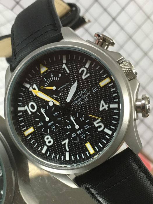 "Pulsar ""Chronograph"" – men's wristwatch – 2017 -- unworn, in mint condition"