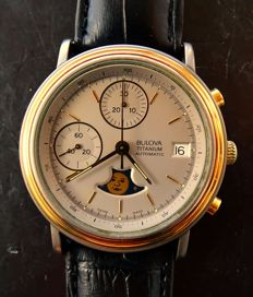 Bulova moon phase automatic men's chronograph ref. 11494