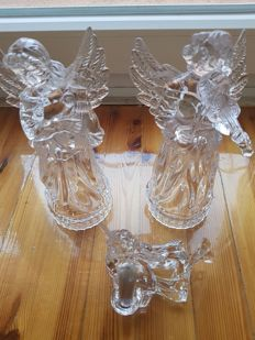 3 Nachtmann Crystal Angel Figurines