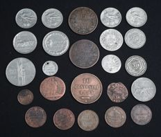 Italy - Vatican - San Marino - Lot of 24 coins 1625/1925