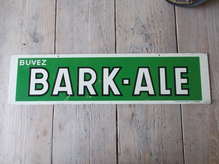 "Old advertising ""bark - ale"" beer 1963 double sided"