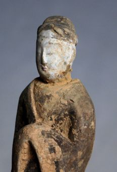 Chinese terracotta statuette - h 24 cm - with TL test