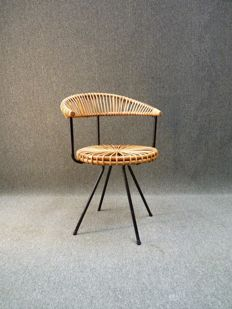 Rohe Noordwolde - rattan chair with a modernist design