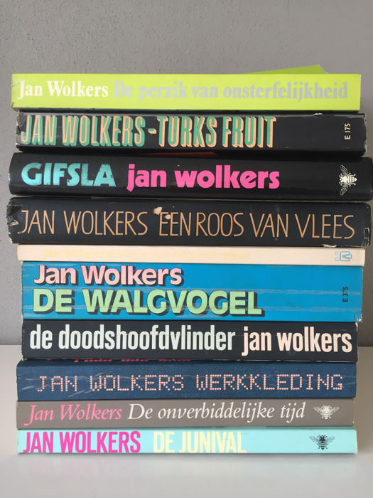 Jan Wolkers Lot With 10 Of His Works In First Edition
