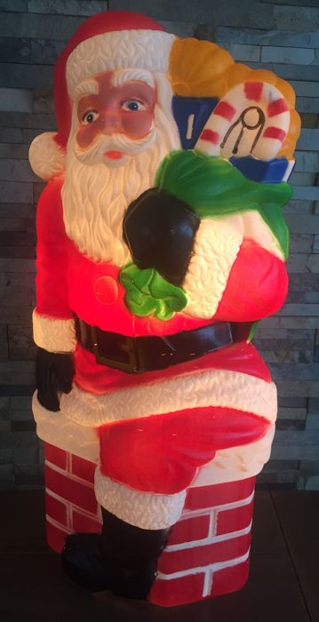 large vintage american christmas decorations santa claus with a bag full of presents - Christmas Decorations Large Santa Claus