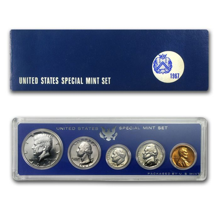 Beautiful Coin! 1967 Special Mint Set Lincoln Penny