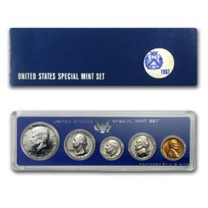 USA - US Mint - 1967 - Special mint set - Coin set - Kennedy half dollar - Roosevelt dime - Lincoln cent - Jefferson nickel -  Washington quarter - 5 Coins - Rare