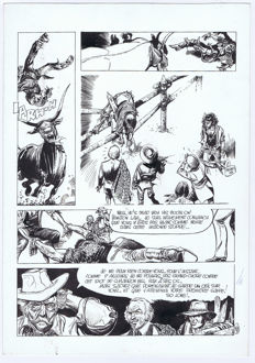 Franz (Drappier, Franz) - Original page in ink (p.25) - Bronco Texas - (1975)