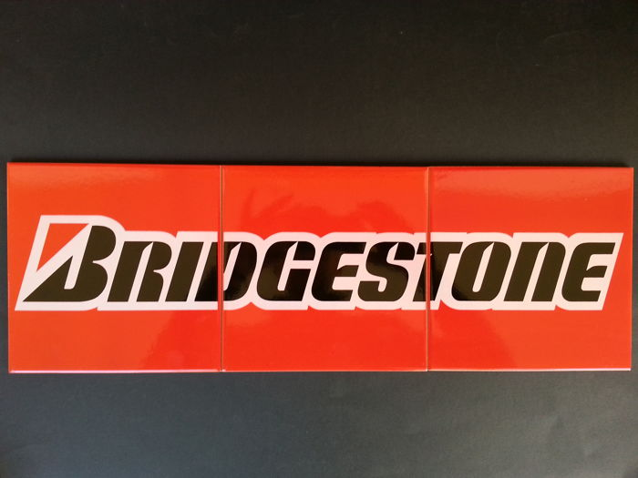 BRIDGESTONE - Set of 3 tiles - Original - Mint condition - Old stock - Never used - From the 70's