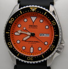 Seiko Scuba Orange - Automatic Diver's 200 m Made in Japan - Men's Watch - New