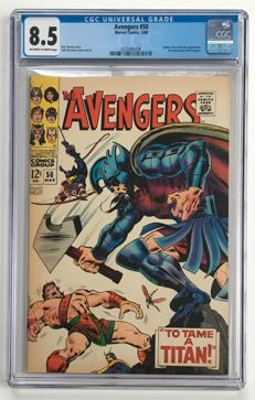 Marvel Comics - The Avengers #50 - CGC Graded 8.5 - 1x sc - (1968)