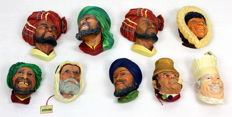 Collection of 3D Bossons Kurd hand-painted wall statues 9x