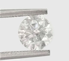 """Diamond 1.28 ct – D SI3 """"untreated diamond, sealed with AIG certificate, very low reserve price"""""""