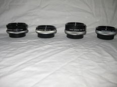 Canon 3 extension tubes: FD 15 (1980), FD 25 (1976), and FL15 and one Macrophoto coupler FL 55mm