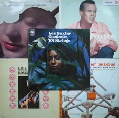 1950's and 1960's Exotica, Latin, Easy, Comedy and Classical albums - Lot of thirty three 33RPM albums, ten 10-inch albums and seven 7-inch EP's (various labels 1950-1970) - various countries of press