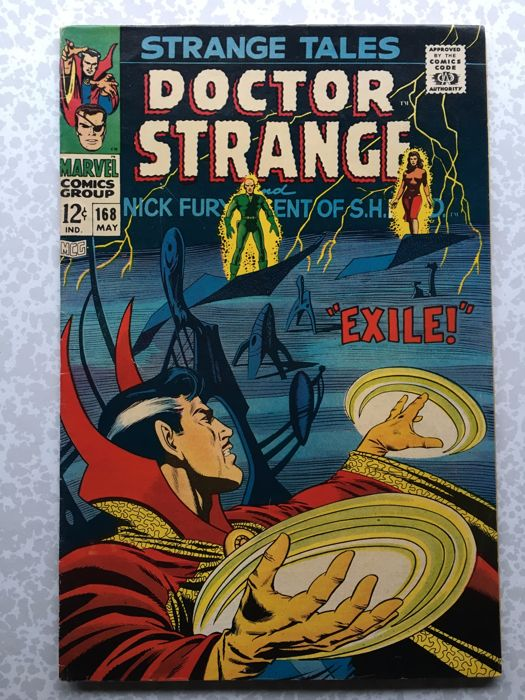Strange Tales Vol 1 #168 - Today Earth Died! - Marvel Comics - Final Issue (1968)
