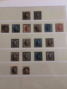 Belgium 1849/1986 - Broad collection in 8 Lindner albums
