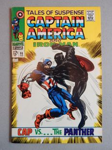 Marvel Comics - Tales of Suspense #98 - Iron Man and Captain America - With first meeting of Captain America and Black Panther - 1x sc - (1968)