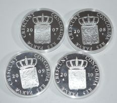 The Netherlands - Ducats 2007 up to 2010 inclusive (4 different coins) - silver