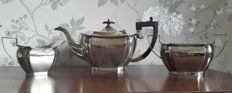 3-piece silver plated tea set by Charles Henry Hattersley