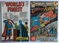 DC Comics - World's Finest #149 & #198 (Famous Superman vs Flash Race!)- 2x sc - (1965/1970)