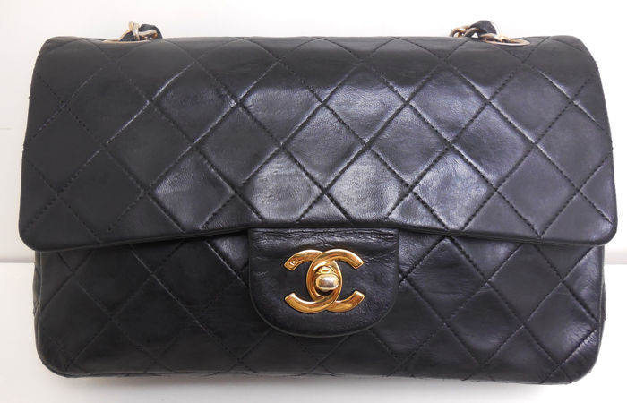Chanel - Classic 2.55 double flapbag double chain Bolso de hombro - Vintage caa0b9aff292