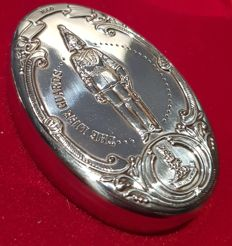 The Guards Regiments Silver Box Collection - Solid 925/100 silver pill box - The Life Guards - Franklin Mint