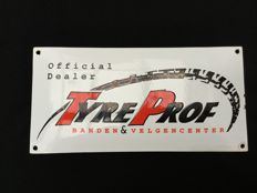 "Vintage enamel dealer advertising sign ""TyreProf"" Ca. 1970/80"