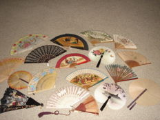 Collection of fans (18)