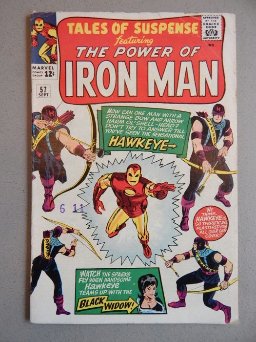 Marvel Comics - Tales of Suspense #57 - 1st Appearance and Origin of Hawkeye - 1x sc - (1964)