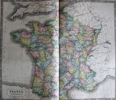 France; Malte-Brun & George Philip & Son - 3 maps - 1833 / 1812 / 1853