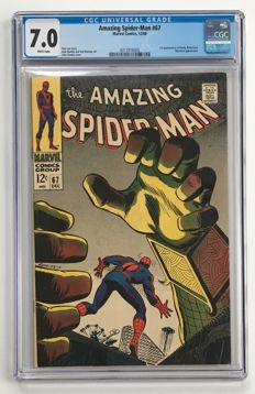 Marvel Comics -The Amazing Spider-Man #67 - CGC Graded 7.0 -  1x sc - (1968)