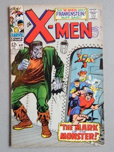 Marvel Comics - X-Men #40  - With 1st Appearance of Frankenstein's Monster - 1x sc - (1968)