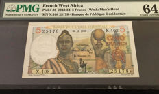 French West Africa - 5 Francs 1943-1954 - Pick 36