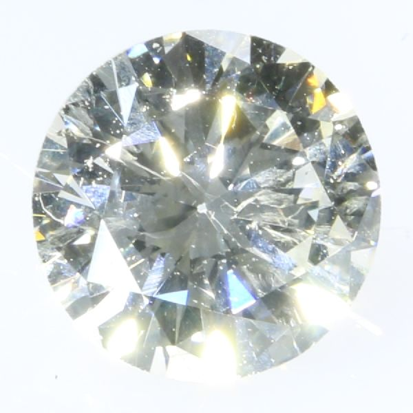 Certified brilliant cut diamond 0.49 ct, G - SI2