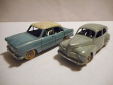 Dinky Toys-France - Scale 1/43 - Peugeot 203 No.24R and Simca Versailles No.24Z