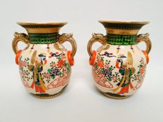 Two antique Kinkozan vases - Japan - approx. 20s/30s