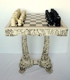 Buddhist chess and table